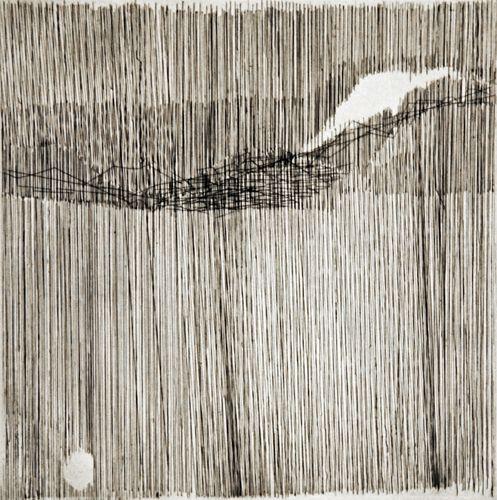 Gego, Sin título, 1963, Prueba de Artista, Intaglio sobre papel, 12 x 12 pulgadas tamaño de la placa: