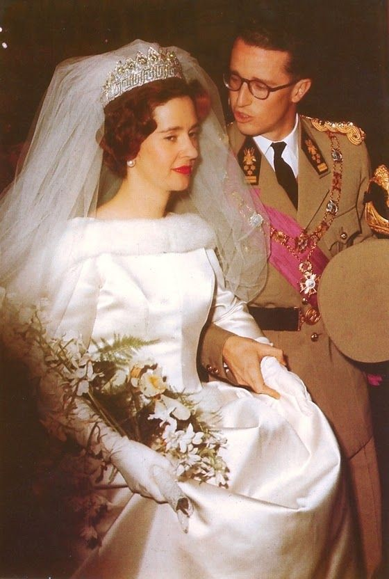 Fabiola de Mora y Aragon, of The Marquesses of Casa Riera; and H.M. King Baudoin of The Belgians Wedding  (1960)