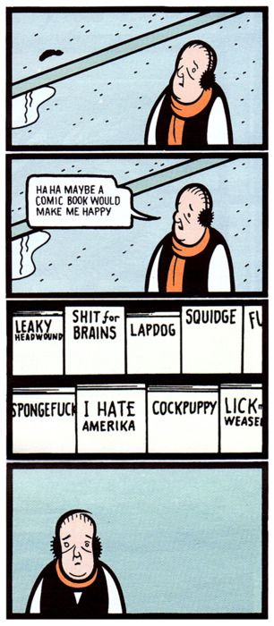 Jimmy Corrigan panels from «The Acme Novelty Joke Book» by Chris Ware