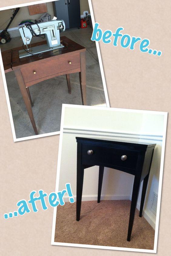 old sewing table, just like my grandma had!!
