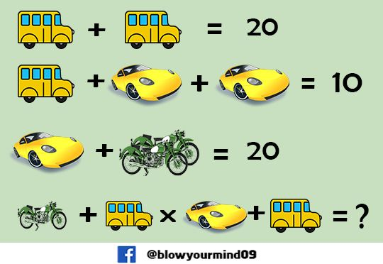 It look so easy but its a bit tricky give a try and solve it. Taken from https://facebook.com/BlowYourMind09