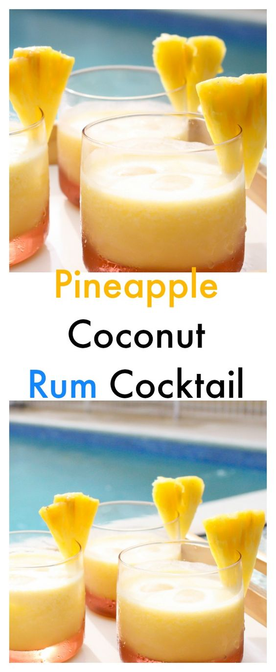 Mixed Drinks Made With Coconut Rum