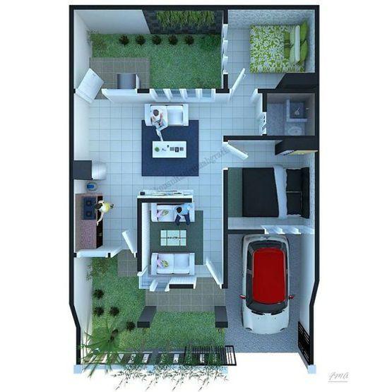 desain rumah mungil dengan taman