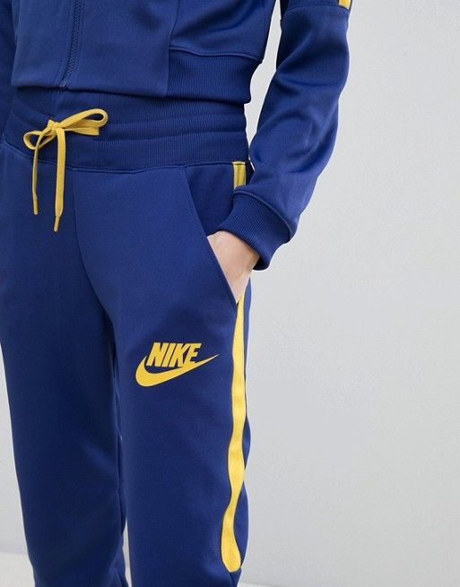 low price sale check out best service Nike High Waisted Track Pants In Blue And Yellow in 2019 ...