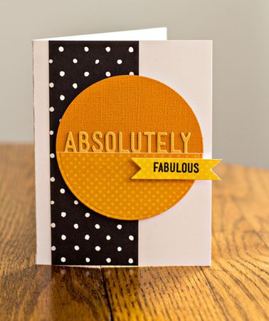 handmade card ... clean and simple ... like the bold colors ...