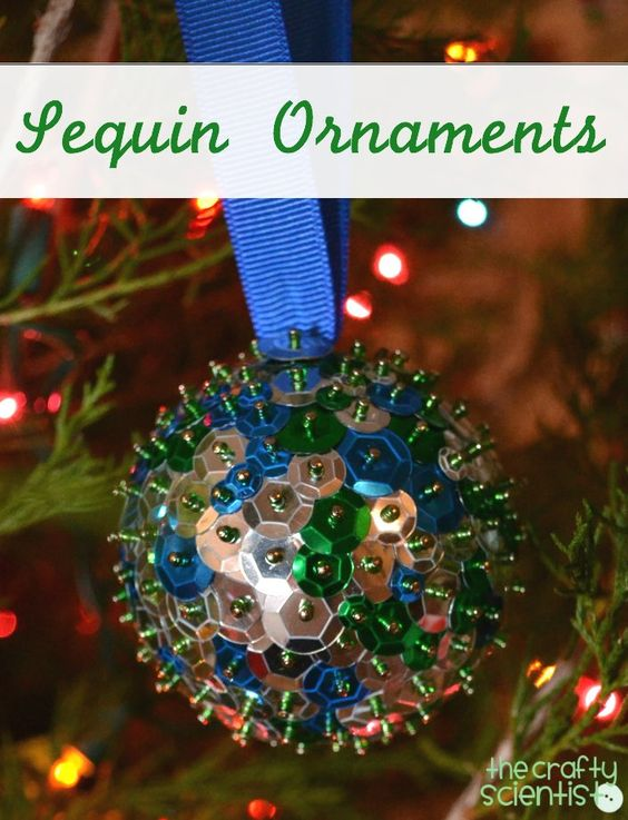 sequin ornaments