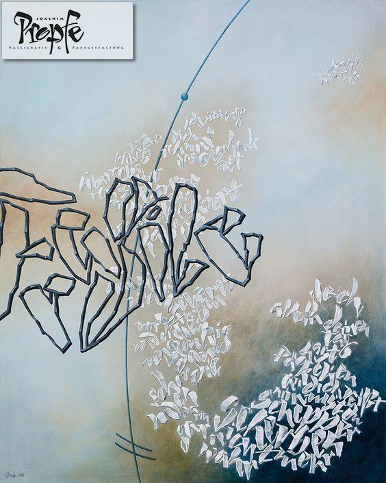 """""""Fragile"""", nach einem Gedicht von Karin Kiwus, Acryl auf Leinwand, 80 x 100 cm, Preis auf Anfrage"""