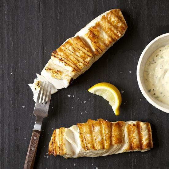 Grilled Halibut with Orange Rémoulade | The only part of this simple ...