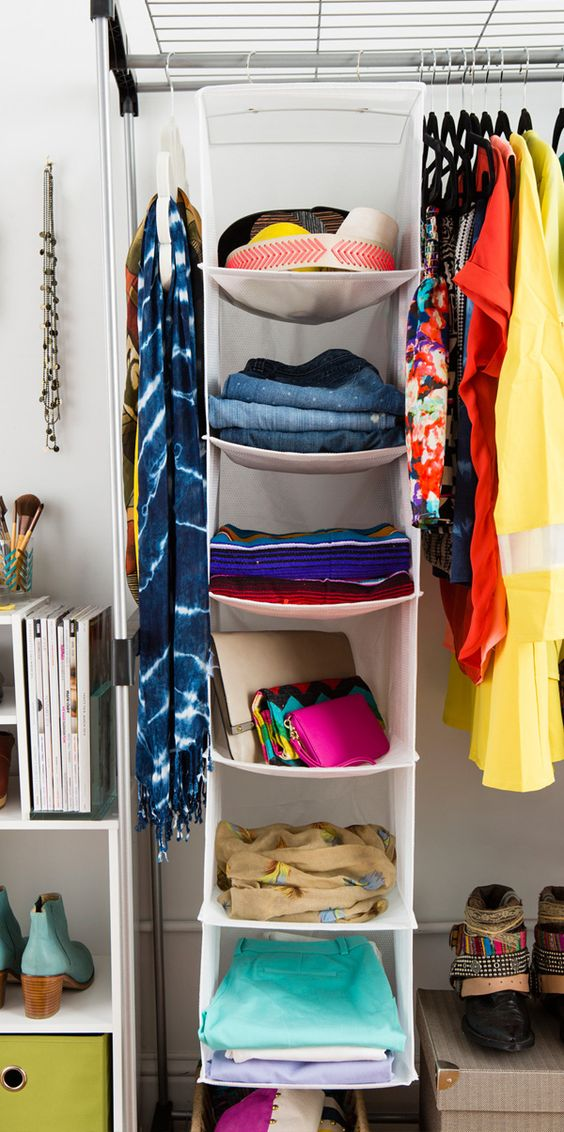 organize scarves hanging shelves and how to store on