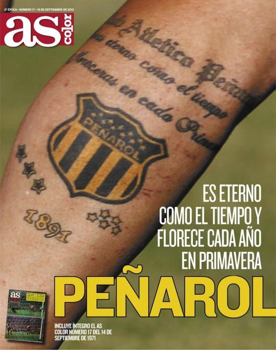 Resultado de imagen para imagen tatuaje escudo penarol en pierna de cebolla rodriguez