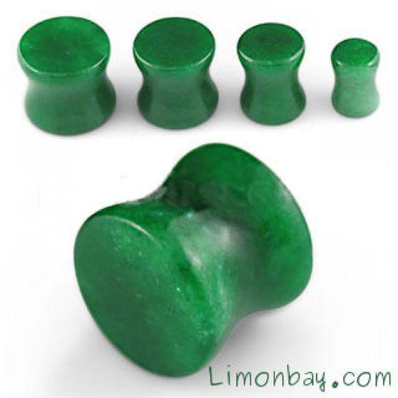 Plug para piercing de oreja. Hecho de Jade. Varios tamaños. Dilatador. 100% material natural. Ideal para tu piercing de oreja. Dilatación. Mineral , 3.38