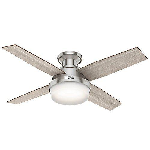 Dempsey Low Profile Ceiling Fan With Light In 2020 Ceiling Fan