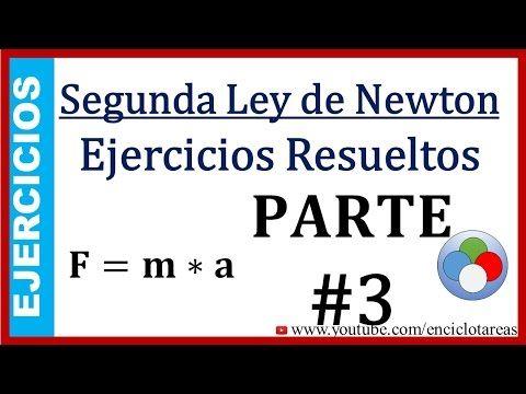 Ejercicios Resueltos De La Segunda Ley De Newton Parte 3 Youtube Leyes De Newton Ejercicios Resueltos Ejercicios