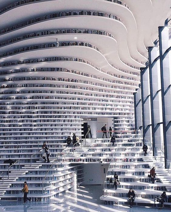 "33.7k Likes, 221 Comments - ART | Love, Learn, Art 🎨 (@art_spotlight) on Instagram: ""Tianjin Binhai Library 📸 @lielaine 🏫 @mvrdv"""