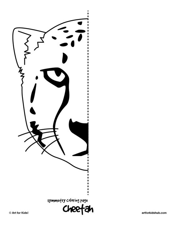 Free coloring pages, Free coloring and Symmetry worksheets