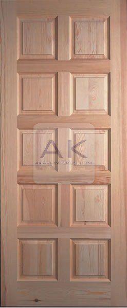 Gama exterior puertas de entrada de madera maciza for Puertas de entrada de madera maciza