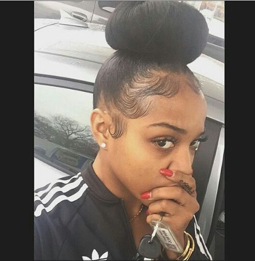 stylesbybriana  hair  Pinterest  Baby Hairs, Buns and Babies