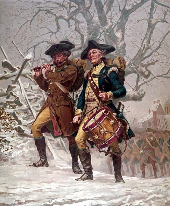 revolutionary war   Revolutionary War Soldiers Marching ...