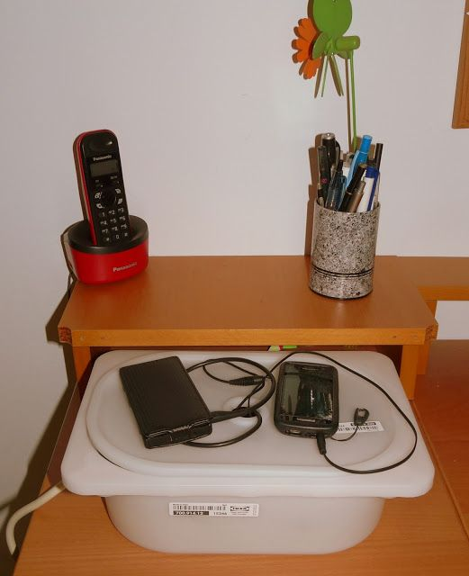 Transformando una caja trofast en una estaci n de carga - Caja joyero ikea ...