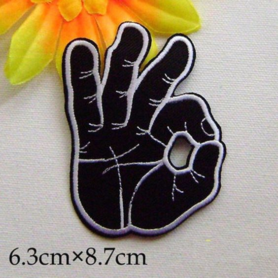 New to craftapplique on Etsy: OK punk patch Fingers patches punk patches…