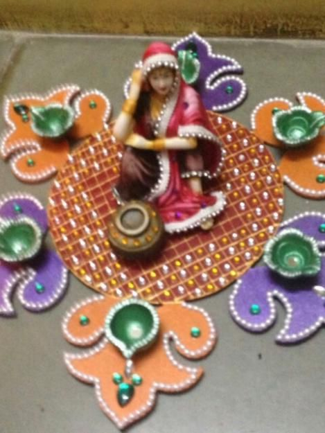 ancy designer diya rangoli diwali 2014 ranjanaarts!!