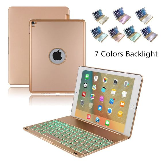 Amazon.com: iPad Pro 9.7 Keyboard Case, KVAGO Stylish 7 Colors Backlit Illuminated Wireless Bluetooth Keyboard Hard Shell Protective Cover Keypad Case+ Screen Protector + Stylus for Apple iPad Pro 9.7 (Gold): Computers & Accessories