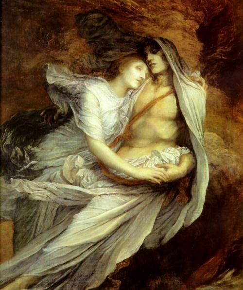 Paolo and Francesca by George Frederic Watts, 1872-1884