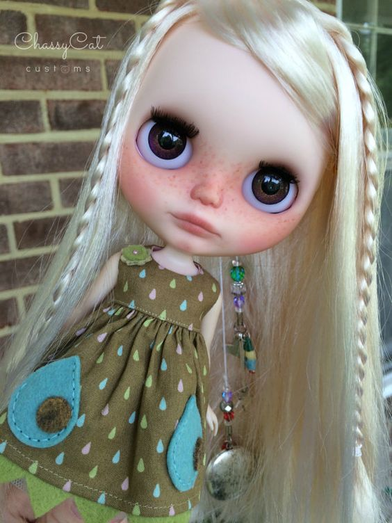 Ooak Custom Blythe Doll Face Up And Customized Olive 27
