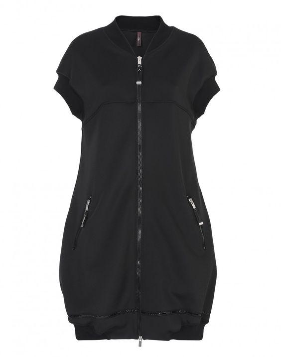 YO-YO: Kleid mit Reißverschluss auf der Vorderseite.