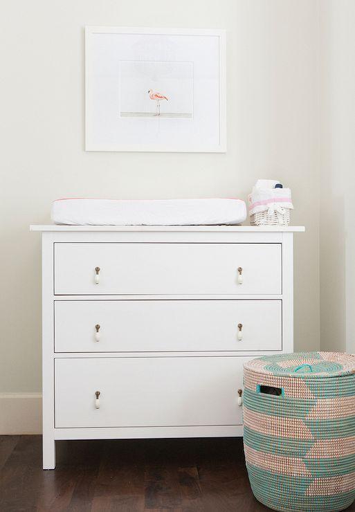 Nursery With Ikea Hemnes 3 Drawer Chest
