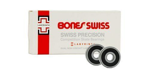 Bones Bearings Swiss Labyrinth Skate Bearings (7mm, 16-Pack) by Bones Bearings. $81.56. This new bearing has a redisgned inner race with two labyrith seals to keep dirt out even better than before