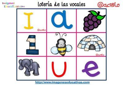 Lotería Bingo de las vocales (9)