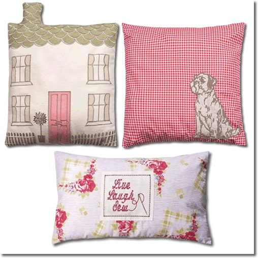 Kirstie Allsopp Cushions to co-ordinate with Gingham Rose, Available at http://www.victorialinen.co.uk/