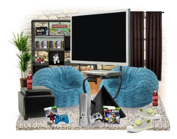 """""""Rec Room"""" by diane-hansen ❤ liked on Polyvore featuring interior, interiors, interior design, home, home decor, interior decorating, HAY, Room Essentials, Kathy Ireland and Pier 1 Imports"""