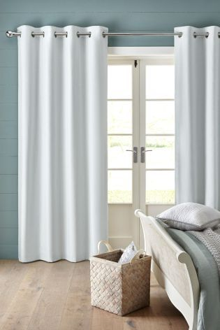 Curtains Ideas boys eyelet curtains : White Cotton Blackout Eyelet Curtains - FOR BOYS ROOMS, RANGE OF ...
