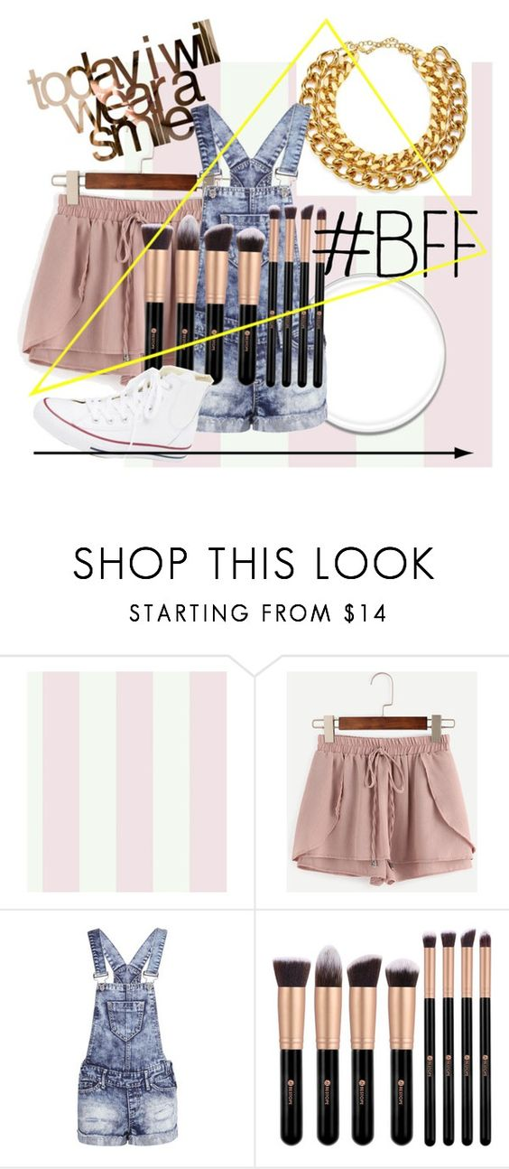 """😝my random set😝"" by rcl-chabria ❤ liked on Polyvore featuring York Wallcoverings, WithChic, Boohoo and Converse"