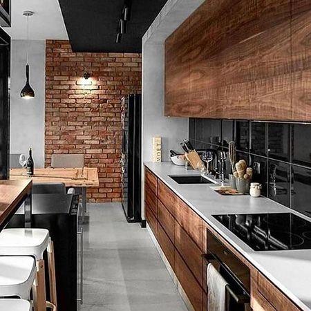 Cozinha planejada rustica moderna