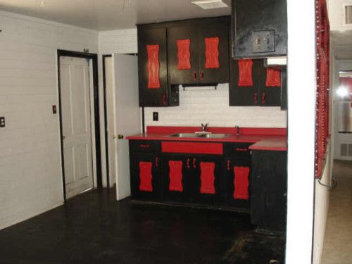 Black Kitchen Cabinets » Black Kitchen Cabinets With Red Walls ...