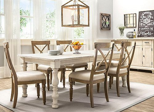If You Re Looking For Something With A Casual Cottage Vibe You Ll Love The Aberdeen 7 Piece Dining Set Th Dining Sets Modern Dining Room Furniture Dining Set Cottage retreat dining room furniture
