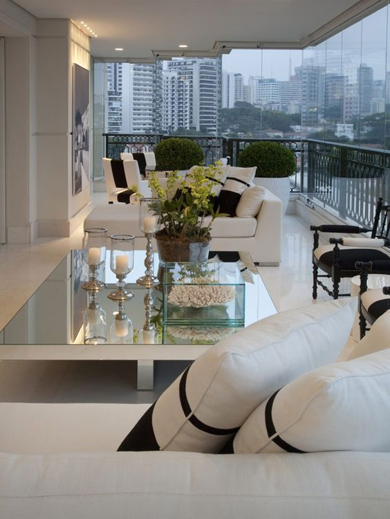 love the cocktail table...penthouse patio living: