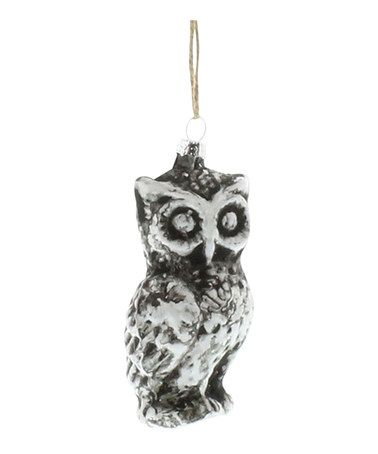 Look what I found on #zulily! Homer Glass Owl Ornament #zulilyfinds