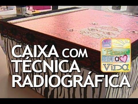 Artesanato - Caixa com Técnica de Radiografia (02/10/2013)