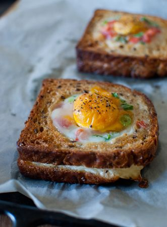 grilled cheese egg-in-a-hole | for Davin | Pinterest | Egg sandwiches ...
