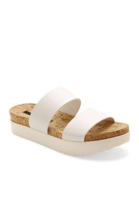 Kensie White Boston Sandal