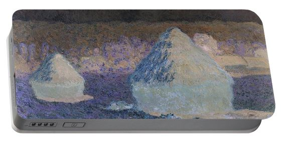 David Bridburg Portable Battery Charger featuring the digital art Inv Blend 8 Monet by David Bridburg