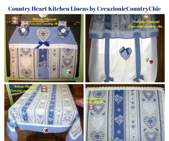 Country Heart Kitchen Linens by CreazionicCountryChic