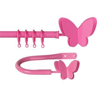 Buy Butterfly Extendable Curtain Pole Set - Pink at Argos.co.uk - Your Online Shop for Curtain poles and tracks.