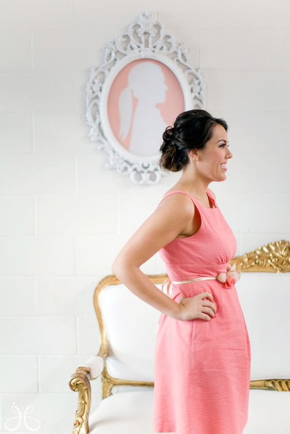Pink bridal shower ideas - I'm definitely making this silhouette of Ky for her shower!