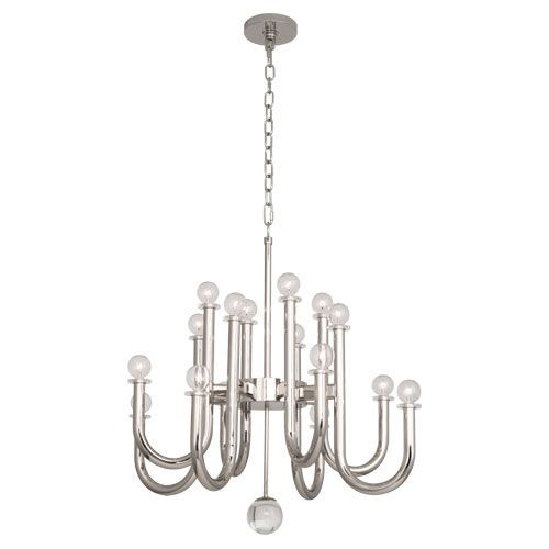 Milano Chandelier by Jonathan Adler.  Comes in brass