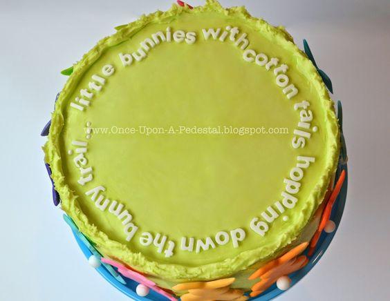light green cake